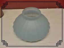 VINTAGE STUDENT LAMP / OIL LAMP RIBBED LAMP SHADE