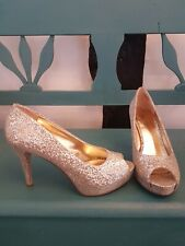 Nine West Champán Brillo Tribunal Zapatos Uk Size 6 usado una vez