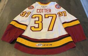 #37 Paul Cotter Game-Worn White Chicago Wolves Jersey AHL VGK HSK CCM Size 56