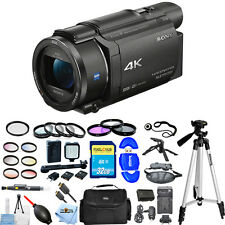 Sony FDR-AX53E AX53 4K Ultra HD Handycam Camcorder (PAL)!! ALL YOU NEED KIT!!