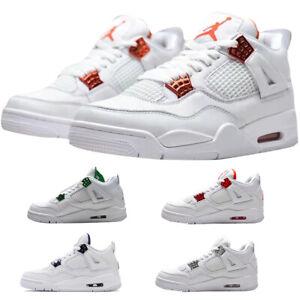 Air Jordan4 Retro Metallic Uomo Donna Scarpe da ginnastica Shoe Con scatola