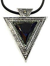 GEO Nero Triangolari Vistosa E Spessa Geometrico Catenina Ciondolo