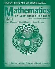 Mathematics for Elementary Teachers : A Contemporary Approach by William F....