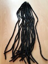 Black Soft Dreadlocks Twist Braids Crochet Thick Hair Extensions Faux Locs