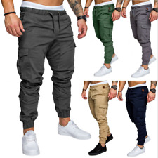 Men's Casual Joggers Pants Sweatpants Cargo Combat Loose Active Sports Trousers