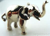 Miniature 925 Silver Good Luck Elephant Figurine #s2