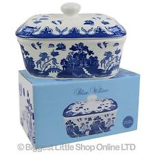 NEW Classic Butter Dish by Leonardo Blue Willow Collection Kitchen GIFT Boxed