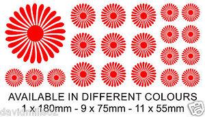 21 Flower Design Self Adhesive Vinyl Stickers