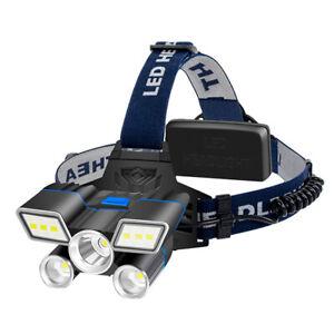 Strong Head Torch LED Headlamp Rechargeable Headlight Lamp Waterproof Flashlight