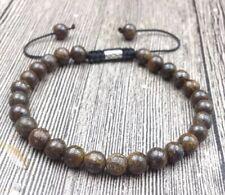 Natural Bronzite Beaded Friendship Bracelet Stacking Lucky Beads Adjustable