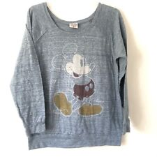 Junk Food Disney Mickey Mouse Long Sleeve Tee Womens L