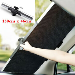 Retractable Car Curtain UV Protection Front Windshield Sun Visor Accessories