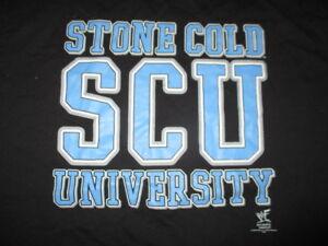 "1998 WWF ""STONE COLD"" STEVE AUSTIN SCU University ""WHOOP-ASS 101"" (MED) T-Shirt"