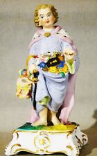Antique 1856 Bohemian Figurine Count Thun Hand Painted St. Nicholas w/ Drum