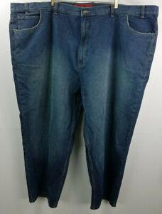626 blue men dark wash blue jeans size 50 x 30
