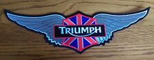Triumph Motorcycles silver wing 12 inch patch. Bonneville Speedmaster America