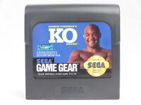 George Foreman's KO Boxing Sega Game Gear Cartridge