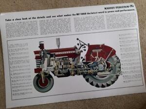 Massey Ferguson 1080 Cutaway Cross Sectional Poster Brochure Very Rare