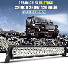 22inch 280W OSRAM COMBO LED Work Light Bar Offroad Driving Lamp SUV Car Boat 24""