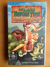 THE LAND BEFORE TIME ~ SING ALONG SONGS ~ VHS VIDEO ~ **FREE POST