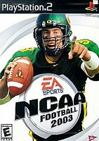 NCAA Football 2003 ps2 PlayStation 2 game only 60H kids sports