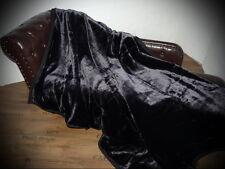 Tagesdecke Kuscheldecke im Glanz-Design schwarz