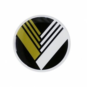 WHEEL CAP STICKERS 50MM EUNOS BLK/YEL on WHITE FITS MAZDA NA Jass 7120