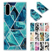 Frosted Translucent TPU Geometric Marble Shockproof Case Cover For Samsung S8/9