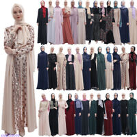 Ramadan Abaya Dubai Jilbab Muslim Women Long Dress Islamic Robe Party Kaftan New