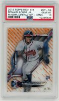 2018 Topps High Tek Orange Magma Diffractor Ronald Acuna Jr. RC /25 PSA 10 💎