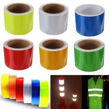 5 x 100cm Self-Adhesive Vehicle Reflective Safety Warning Conspicuity Tape Roll