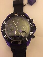Ice-Watch Men's Quartz Watch with Black Dial Chronograph Display