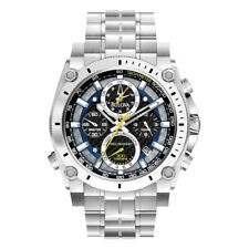 Bulova 96G175 Mens Precisionist Silver Steel Bracelet Chronograph Watch RRP £699