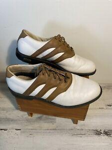Adidas Adiprene Men's Golf Shoes Z Traxion Tour Size 11 White/Brown