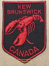 LMH PATCH Badge  CANADIAN Crest  NEW BRUNSWICK Canada RED LOBSTER Worlds Largest