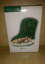 Dept 56 Christmas Heritage Village FISHING AT TROUT LAKE w/ box Gr8 Cond Retired