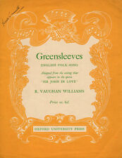 GREENSLEEVES Music Sheet-1934-SIR JOHN IN LOVE-AUTOGRAPH MARION GRIMALDI-British