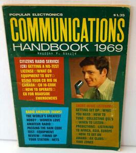 POPULAR ELECTRONICS 1969 COMMUNICATIONS HANDBOOK - CB / RADIOS / HAM / SCANNERS
