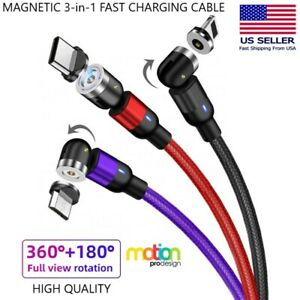 BRAIDED 3A FAST CHARGING CABLE & DATA SYNC 3-in-1