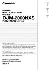 Pioneer DJM-2000NXS DJ Mixer Owners Manual