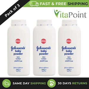 Johnson and Johnson Baby Powder Talc Clinically Mildness Proven 200g / Pack Of 3
