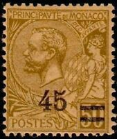 """MONACO STAMP TIMBRE N° 70 """" PRINCE ALBERT 1er 45c SUR 50c """" NEUF xx LUXE"""