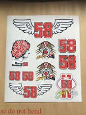 MARCO SIMONCELLI Sticker kit sheet Motorcycle Decals Super Sic 58.
