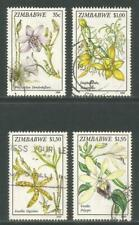 Zimbabwe 1993 Local Orchids--Attractive Flower Topical (692-95) fine used