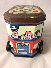 Vintage Smarties Deliveries Van Delivey Turning Wheels 1980s? Advertising Tin