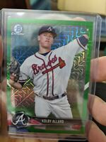 2018 Bowman Chrome Kolby Allard Mega Refractor (4x) Card Lot Green /99 Braves