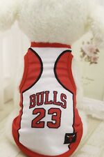 Bulls Basketball Tshirt Dogs Clothes Sml & Large