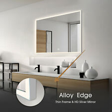 "40""x32"" Anti-Fog Mirror Bathroom Led Makeup Vanity Mirror w/Bluetooth Speaker"