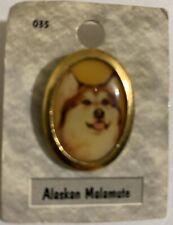 Alaskan Malamute Dog Pin Portraits
