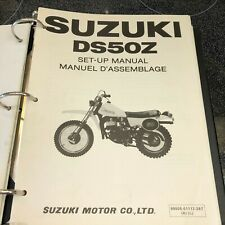 Suzuki Set-Up Manual for DS50Z October 1981 Printed in Japan in English